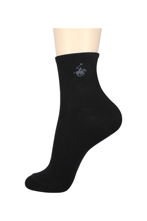 Men's Thin Quarter Socks Horse Black