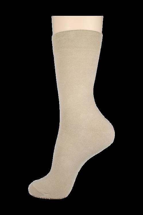 Men's Cotton Dress Socks Creme