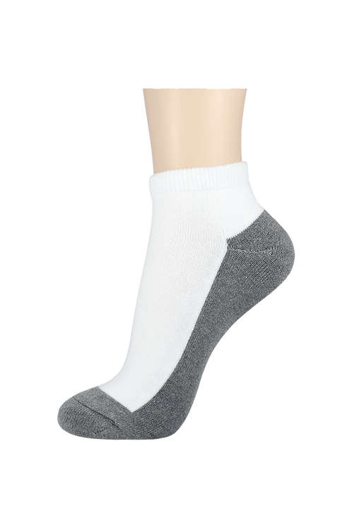 Women's Cushion Ankle Socks 2-Tone Grey