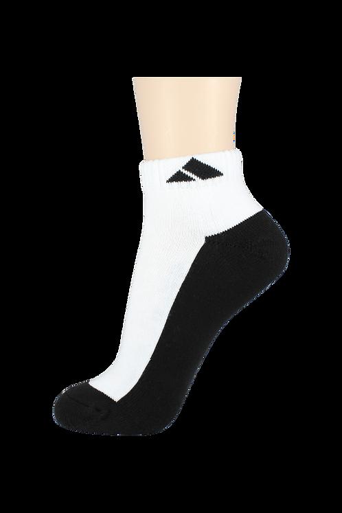 Women's Cushion Ankle Socks Tri Black