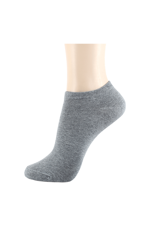 Women's Thin Cotton Low Cut Socks Grey