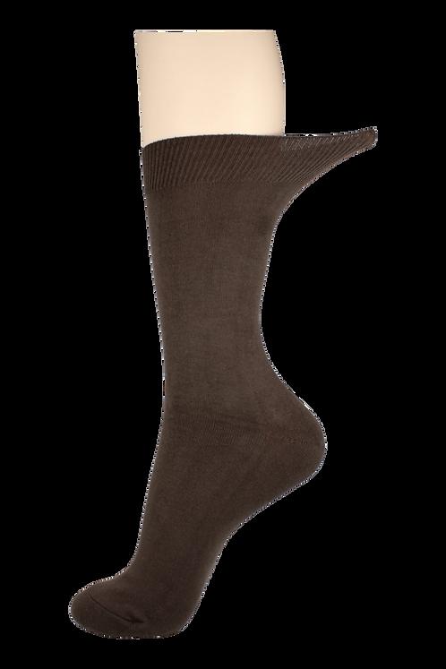 Men's Loose Top Socks Brown