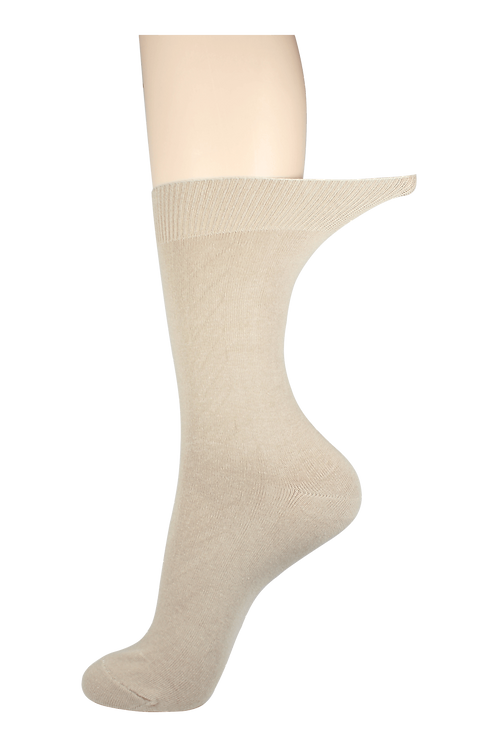 Men's Loose Top Socks Creme