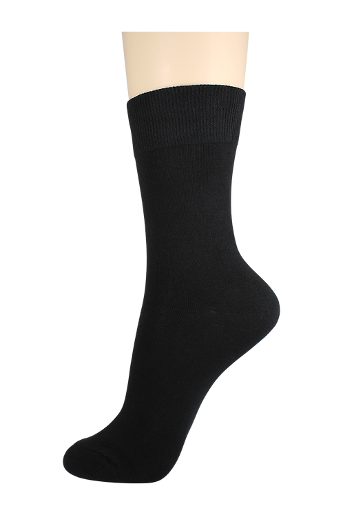 Women's Cotton Dress Socks Black