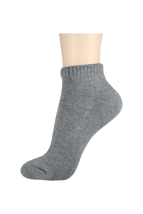 Men's Cushion Ankle Socks Grey