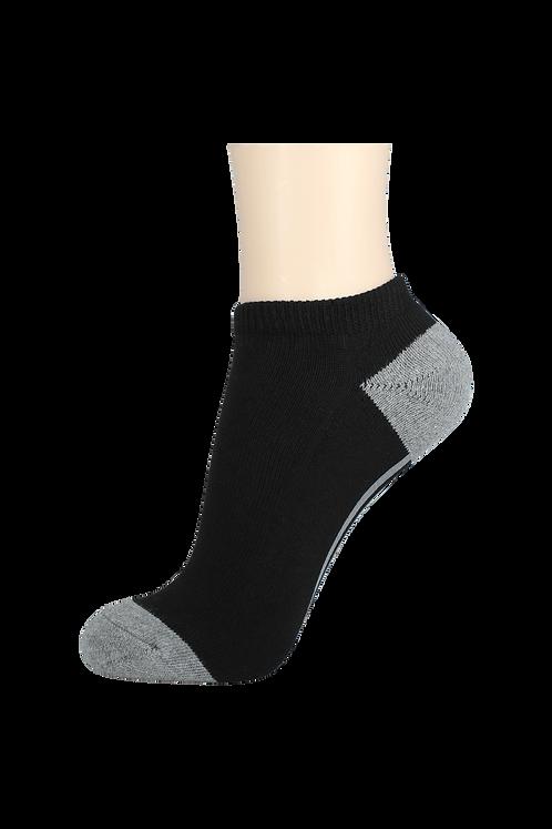 Women's Cushion Low Cut Socks Black/Grey