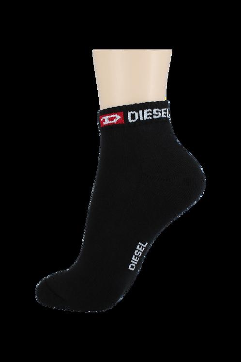 Women's Cushion Ankle Diesel Socks Black
