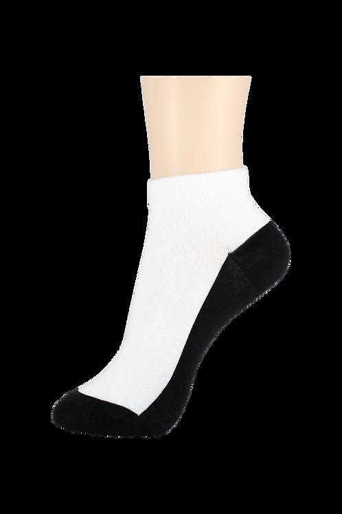 Women's Thin Cotton Ankle Socks 2 Tone Black