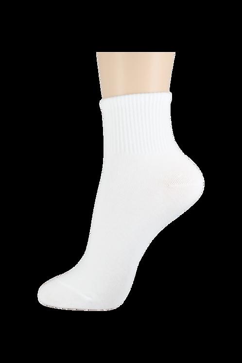 Men's Thin Quarter Socks White