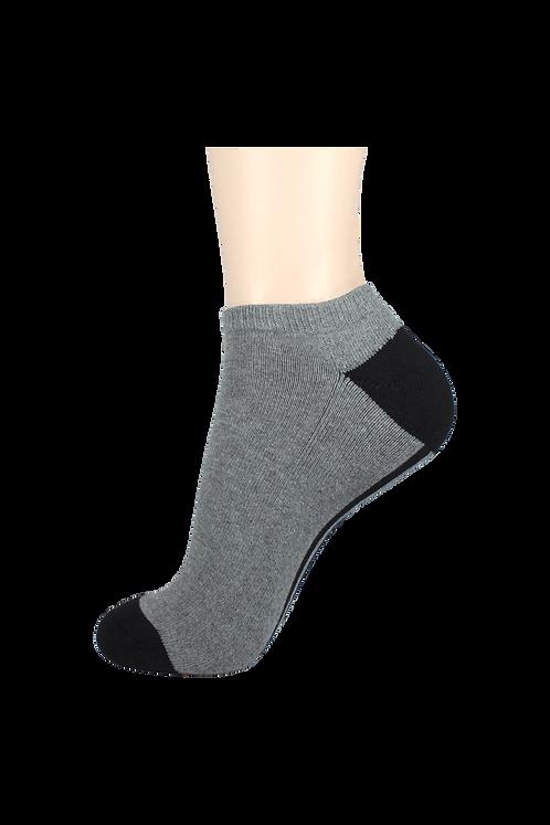 Men's Cushion Low Cut Socks Grey/Black