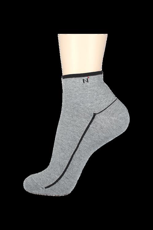 Men's Thin Ankle Socks N Grey/Black