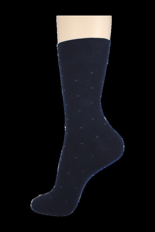 Men's Pattern Dress Socks Diamonds Navy