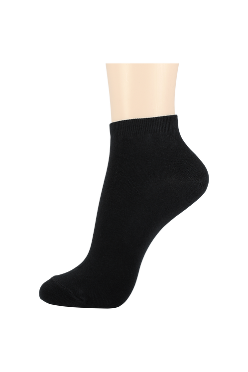 Men's Thin Cotton Ankle Socks Black