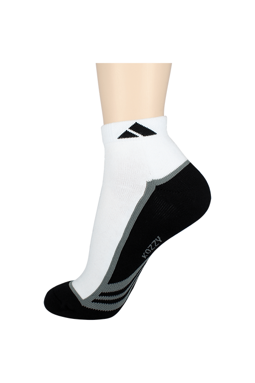 Men's Cushion Ankle Socks Tri Black