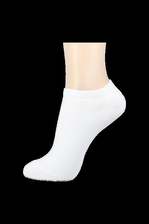 Women's Thin Cotton Low Cut Socks White
