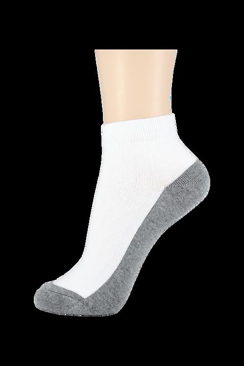 Women's Thin Cotton Ankle Socks 2 Tone grey