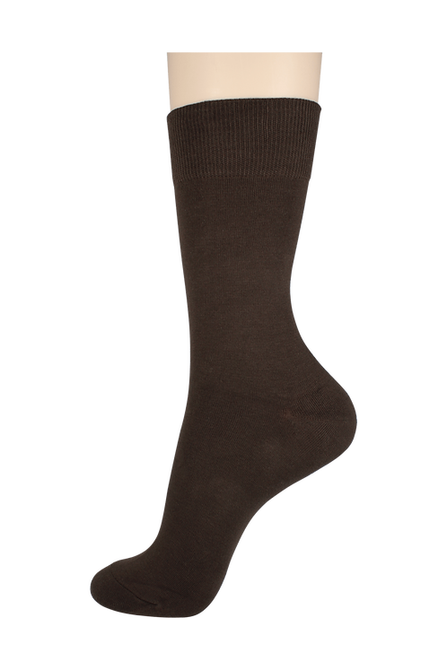 Men's Cotton Dress Socks Brown