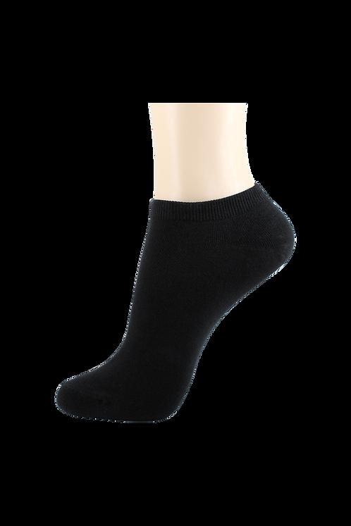 Women's Thin Cotton Low Cut Socks Black
