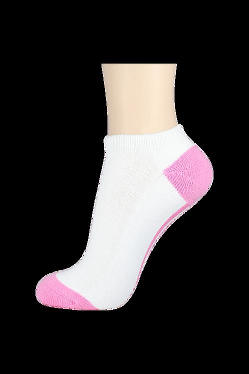 Women's Cushion Low Cut Socks White/Pink