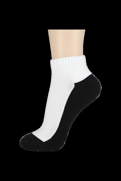 Women's Cushion Ankle Socks 2-Tone Black