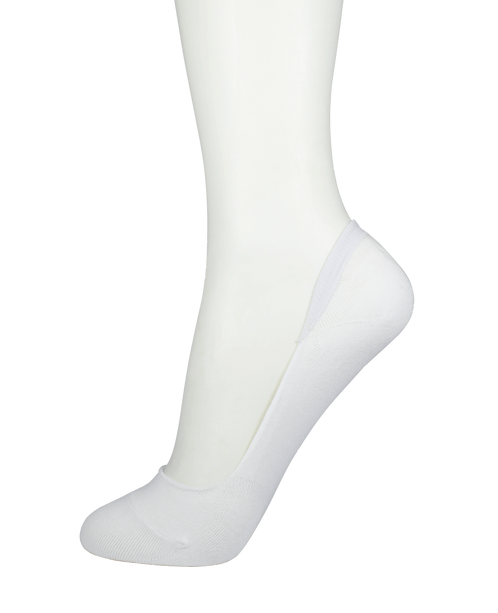 Women's Cotton No Show Socks White