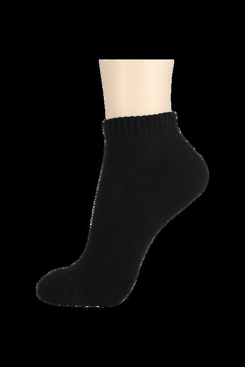 Women's Cushion Ankle Socks Black