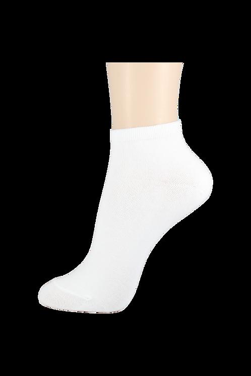 Women's Thin Cotton Ankle Socks White