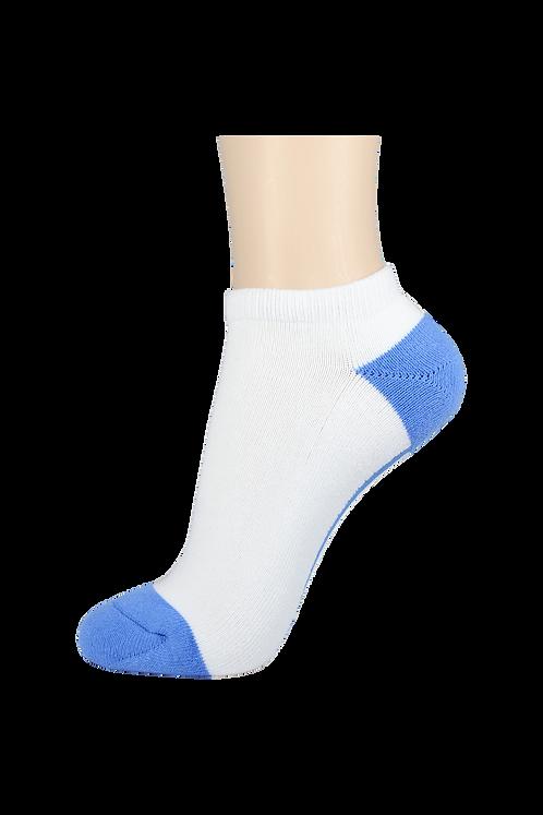 Women's Cushion Low Cut Socks White/Blue