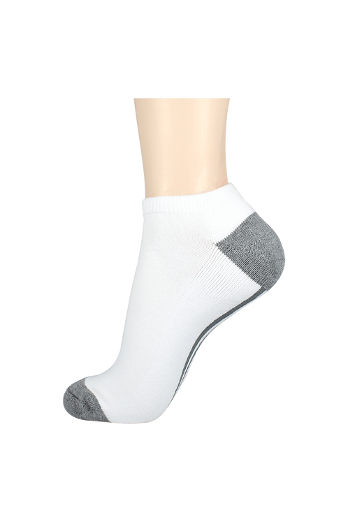 Women's Cushion Low Cut Socks White/Grey