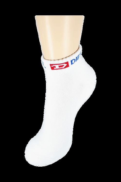 Men's Cushion Ankle Diesel Socks White/Blue