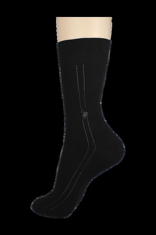 Men's Pattern Dress Socks Horse Black