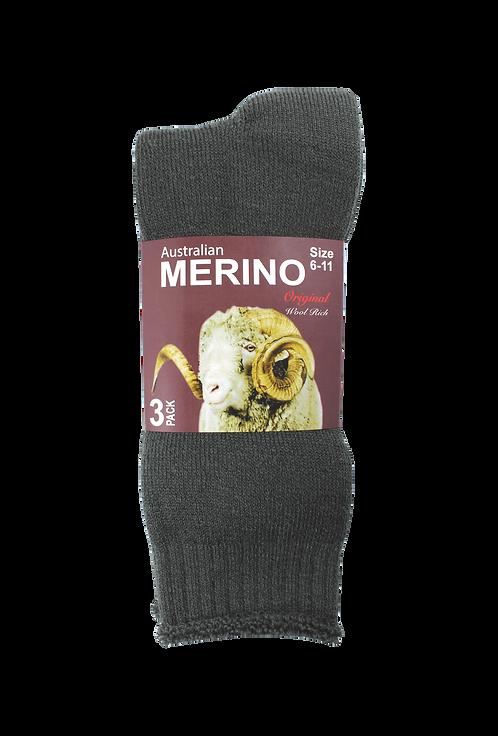 Men's Merino Socks Charcoal (3 in Pack)
