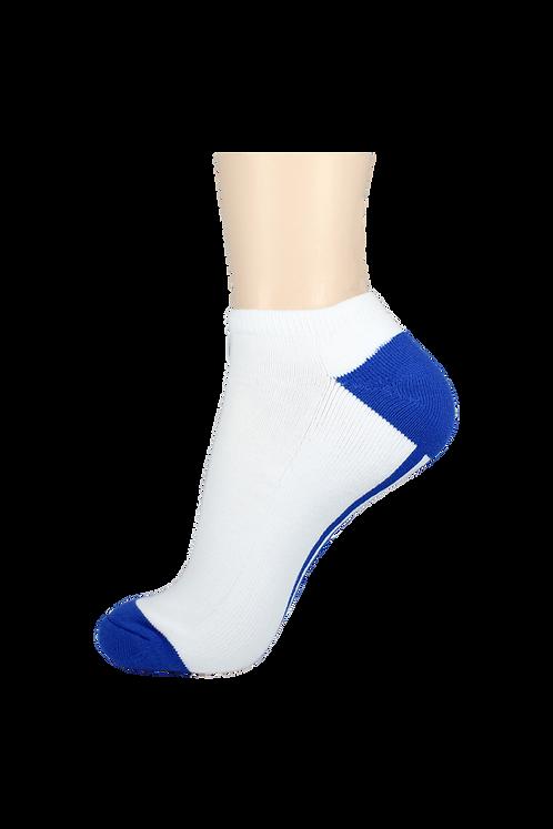 Men's Cushion Low Cut Socks White/Blue
