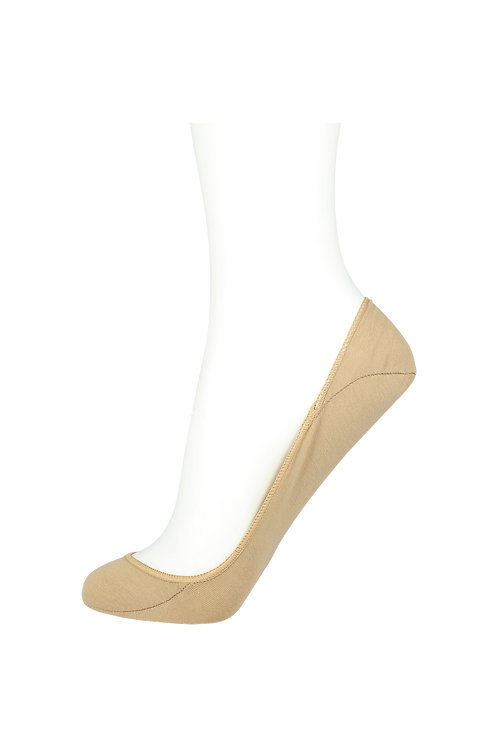 Women's Cotton No Show Socks Non Slip Dark Skin