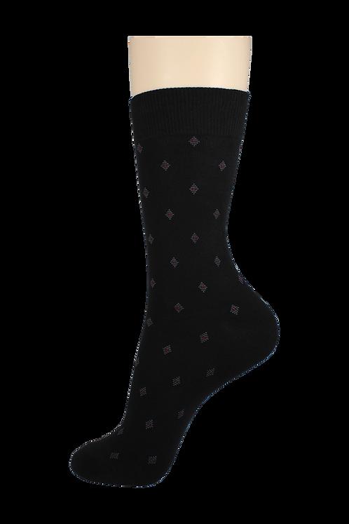 Men's Pattern Dress Socks Diamonds Black