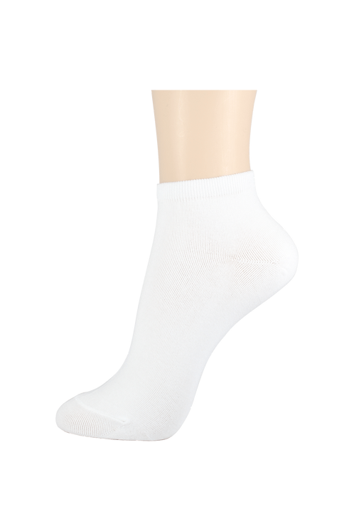 Men's Thin Cotton Ankle Socks White