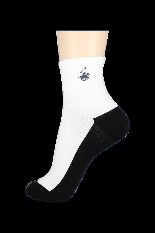 Men's Thin Quarter Socks Horse White/Black