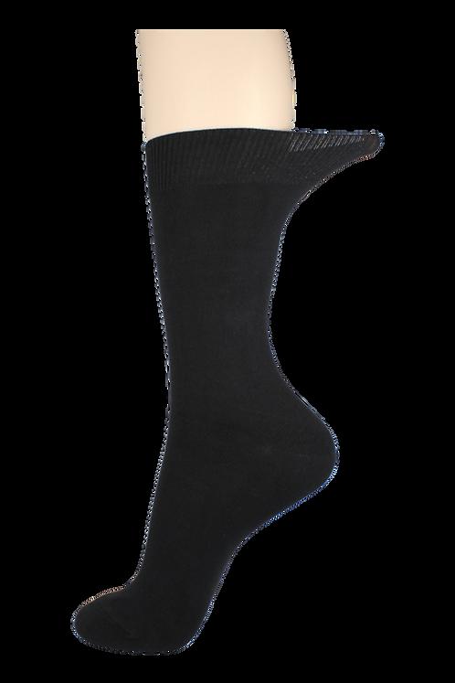 Men's Loose Top Socks Black