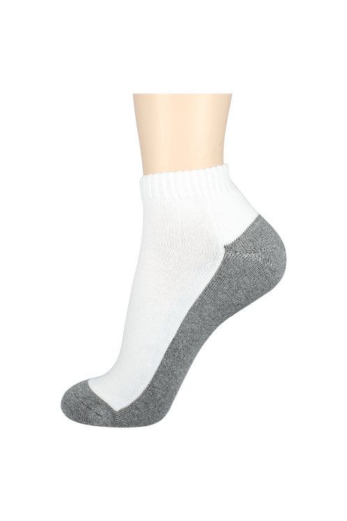 Men's Cushion Ankle Socks 2-Tone Grey