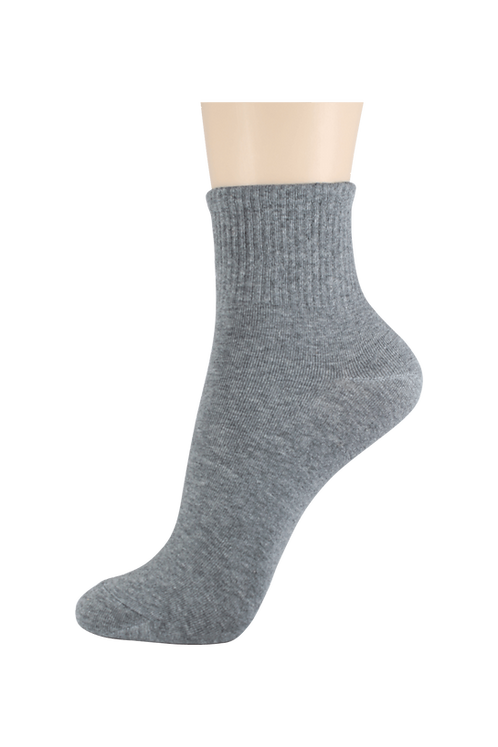Men's Thin Quarter Socks Grey