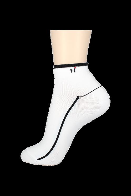 Men's Thin Ankle Socks N White/Black