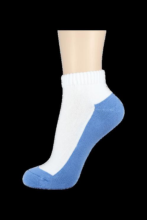 Women's Cushion Ankle Socks 2-Tone Blue