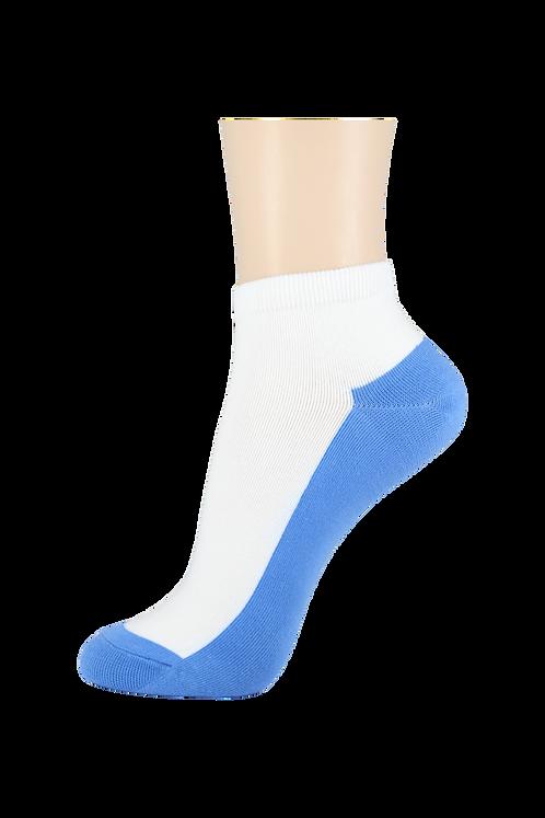 Women's Thin Cotton Ankle Socks 2 Tone Blue