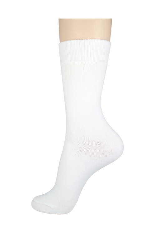 Men's Cotton Dress Socks White