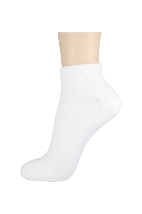 Women's Cushion Ankle Socks White