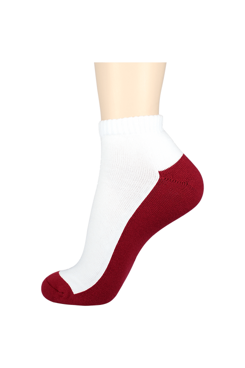 Men's Cushion Ankle Socks 2-Tone Red
