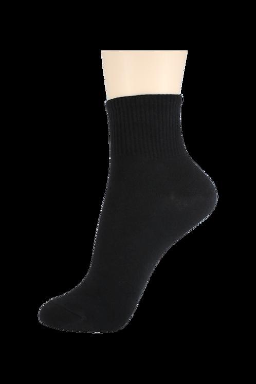 Men's Thin Quarter Socks Black