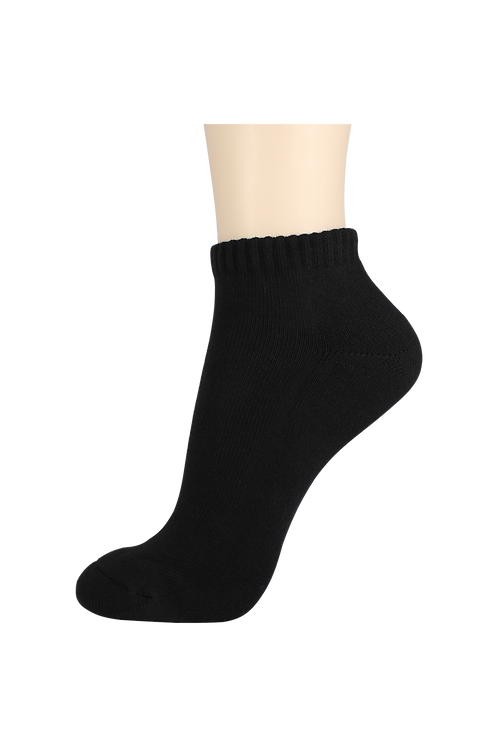 Men's Cushion Ankle Socks Black