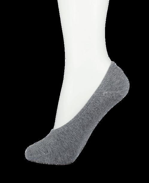 Women's Cotton No Show Socks Rubber Top Grey