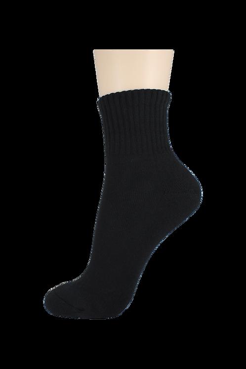 Men's Cushion Quarter Socks Black